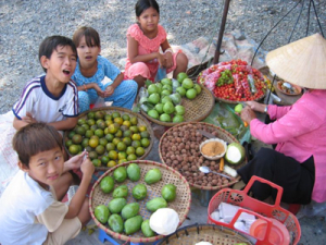 Kids at the Saigon market