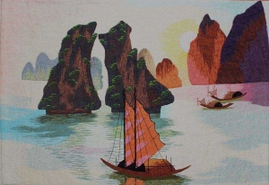 Halong Bay Embroidery Painting