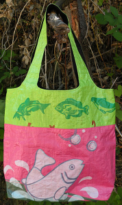 Recycled Rice Sack Tote Bag