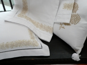 Embroidered Bed Linens by Tan My