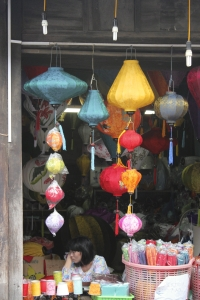 Hoi An lantern shops displaying the beautifully famous lanterns