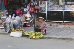 Selling fruit in the streets of Hoi An