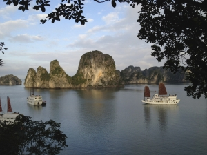 View of Halong Bay from the top of one of the islets
