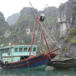 A fishing boat prepares for the day